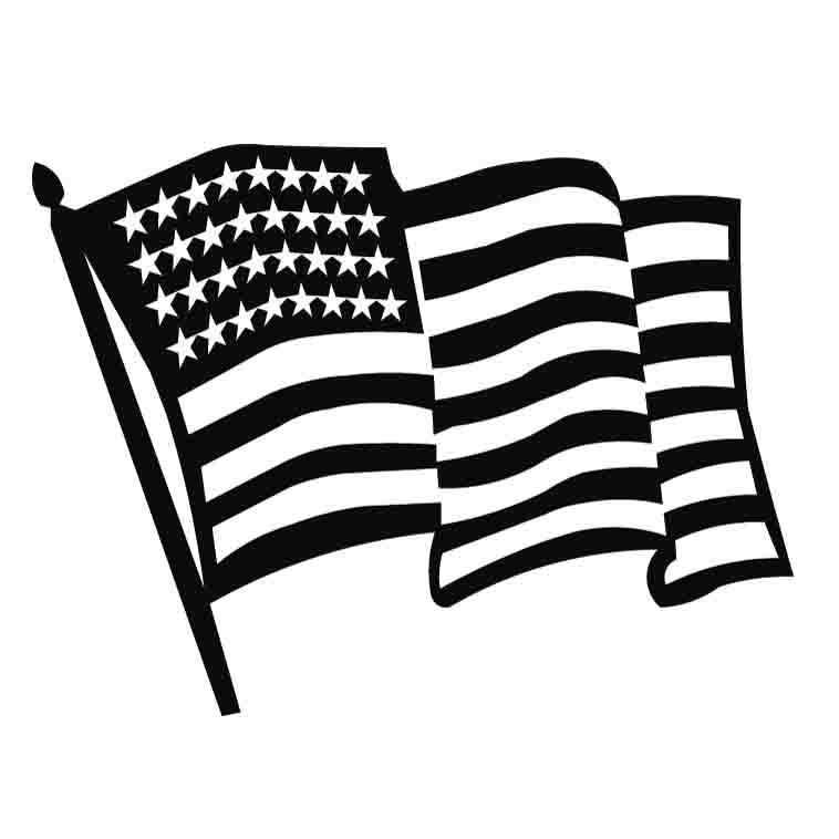 flag clipart black and white